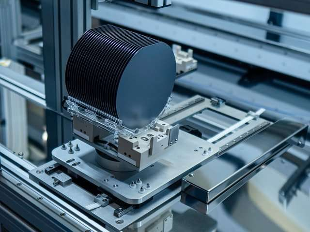 Image of wafers in fabrication